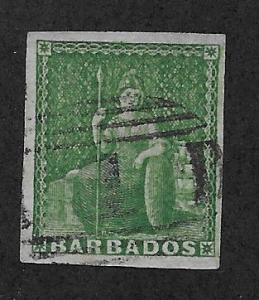BARBADOS SC# 5 VF/U 1858