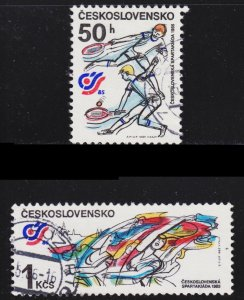 Czechoslovakia Scott 2562-63 complete set F to VF CTO.
