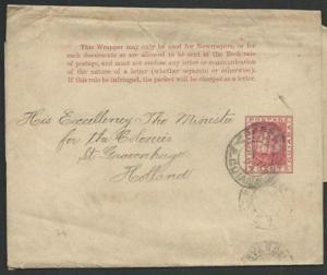BR GUIANA 1894 2c newspaper wrapper used to Holland........................61456