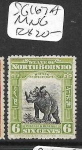 NORTH BORNEO (P0405B) 6C RHINO SG 167A  MNG