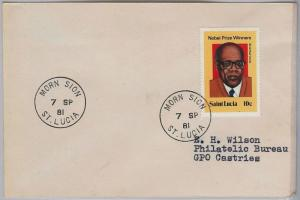 39805  ST LUCIA -  POSTAL HISTORY - COVER with nice postmark: MORN SION 1981