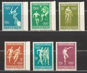 Luxembourg - 1968 Olympic Games Sc# 460/465 - MNH (7078)