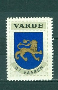 Denmark. Poster Stamp 1940/42. Mnh. Town: Varde. Coats Of Arms: Lion.