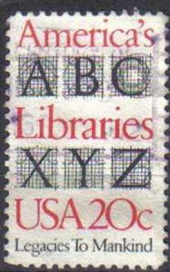 USA, 1982, used 20c, America's Libraries.