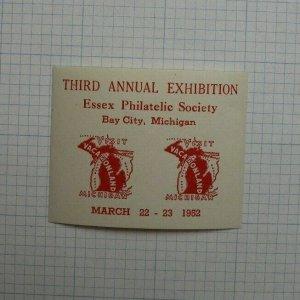 1952 3rd Annual Expo Essex Philatelic Society Bay Ciity MI Souvenir Ad
