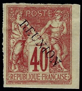 Reunion Sc #14 Unused F=VF w/edge nibs SCV$42.50...French Colonies are Hot!