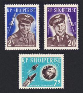 Albania First 'Team' Manned Space Flights 3v SG#739-741 SC#654-666