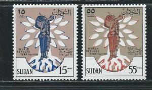 Sudan 128-9 1960 WRY set MNH