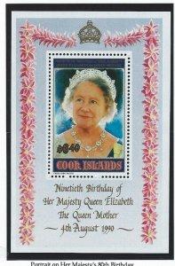 Cook Islands mnh souvenir sheet  s.c.#  1041