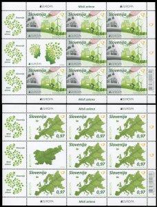 Slovenia. 2016. Think Green (MNH OG) set of 2 M/S