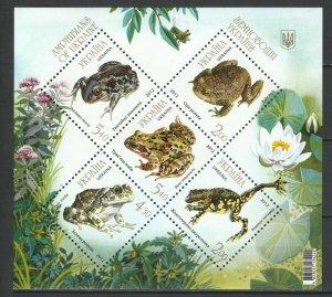 Ukraine 2012 Fauna Frogs MNH Block