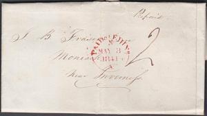 GB SCOTLAND 1841 entire to Inverness - HIGH / STREET namestamp.............54033