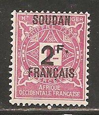 French Sudan SC  J9 Mint  Hinged
