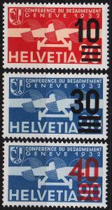 SCHWEIZ SWITZERLAND [1936] MiNr 0291-93 ( */mh ) Flugzeuge