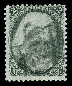 Scott 73 1863 2c Jackson Blackjack Issue Used Fine Fancy Star Cancel Cat $55