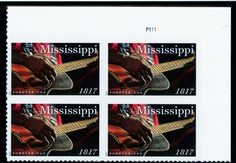 US  5190   Mississippi  - Forever Plate Block of 4 - MNH - 2017 - P1111  UR
