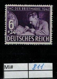 Deutschland Reich TR02 DR Mi 811 1939 Reich Postfrisch ** MNH