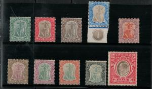 Montserrat 1904-1908 SC 22-31 Mint SCV $350.00