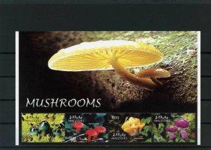 Maldives MNH S/S 2846 Mushrooms 4 Stamps SCV 10.75