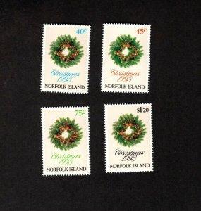 NORFOLK ISLAND MNH SET OF 4 CHRISTMAS 1993 STAMPS SCOTT # 546 - 549