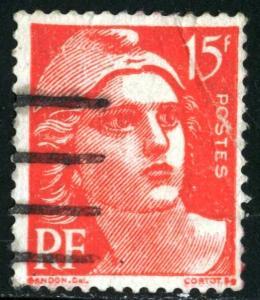 FRANCE #602, USED FAULT - 1949 - FRAN038