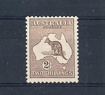 Australia, 52, Kangaroo and Map Single, **Hinged**