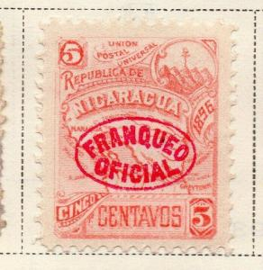 Nicaragua 1896-97 Early Issue Fine Mint Hinged 5c. Official Optd 323750