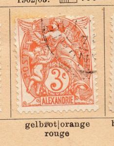 French Alexandria 1902-03 Early Issue Fine Used 3c. 252240