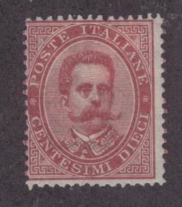 Italy Sc 46 MLH. 1879 10c claret King Humbert I, Scarce