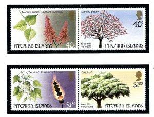 Pitcairn Is 289-90 MNH 1987 Trees          (KA)
