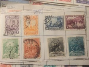 Peru group of 8 different all used 1 overprint