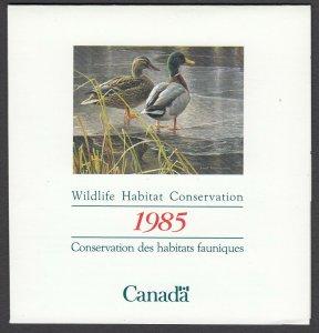 Canada, (Revenue, Wildlife) Unitrade FWH1, MNH booklet