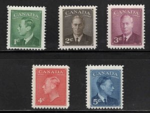 CANADA Scott 284-288 MNH** 1949 Stamp Set 1949