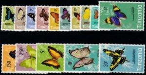 Tanzania 1973SC 35-49 MNH Set Butterflies