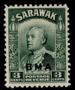 SARAWAK GVI SG128, 3c green, M MINT.