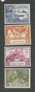 British Virgin Islands # 92-95 Unused Hinged