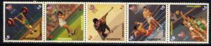 BANGLADESH 1988 SEOUL OLYMPICS - TENNIS - MINT SET OF 5