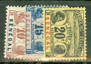 B: Senegal J4-10 mint CV $69.50; scan shows only a few