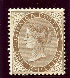 Jamaica 1897 QV 1s brown MLH. SG 24. Sc 28.