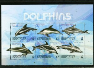 DOMINICA 2009 MARINE MAMMALS SHEET OF 6 STAMPS MNH