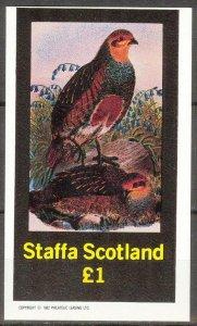 {ST055} Staffa Scotland Birds (5) S/S 1£ MNH Local Cinderella !!