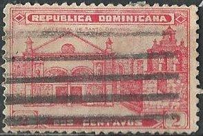 Dominican Republic 261 (used) 2c Cathedral of Santo Domingo, scarlet (1931)