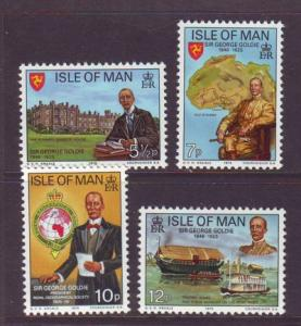 Isle of Man Sc 70-3 50 yrs death of Goldie stamps NH