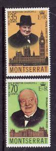 Montserrat-Sc#312-3-Unused NH set-Winston Churchill-1974-