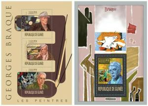 Guinea 2013 Georges Braque art paintings famous persons klb+s/s MNH
