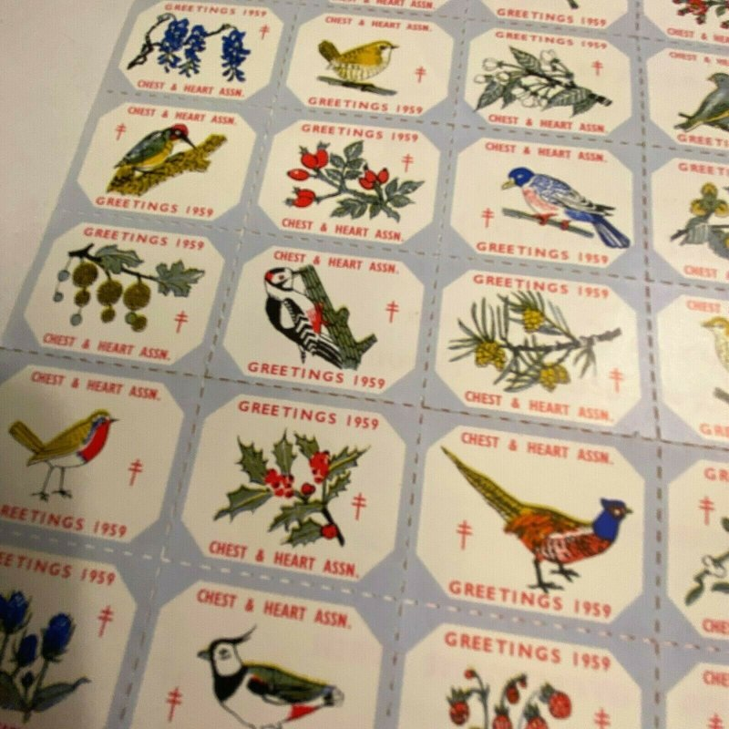 1959 UK Chest & Heart assoc. charity stamps cute pictures cinderellas seals