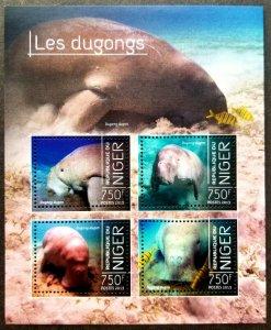 *FREE SHIP Niger Dugongs 2013 Ocean Marine Life Mammals Fish (ms) MNH