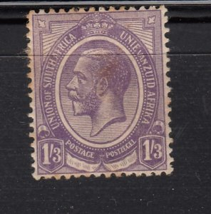 J28421 1913-24 south africa mh #12 king toning reverse check scans