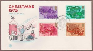 UK # 758 - 761 , Angels with Musical Instruments FDC - I Combine S/H