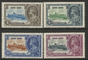 Hong Kong 1935 Silver Jubilee set MNH